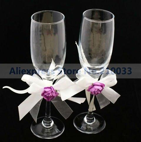 Purple-Rose-Garden-Wedding-Toasting-Glasses-For-Wedding ...