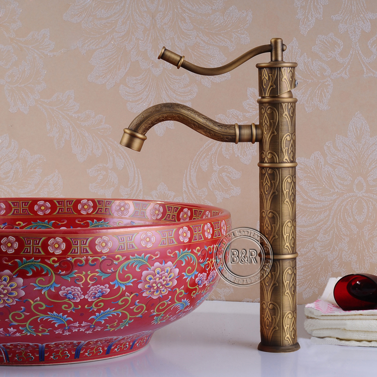 Becola Antique Bathroom Faucets Bronze Antique Water Tap Antique Brass Pool Faucet Single Handle