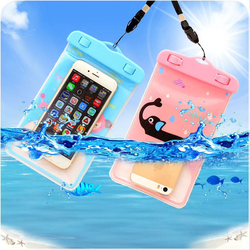 Ocean series Cartoon Waterproof Phone Case Underwater Phone Bag Pouch Dry For Iphone 4/5S/6/6 plus For Samsung S2/S3 100% sealed(China (Mainland))