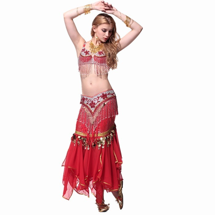 Belly dance costume stage quality clothing set bra cummerbund skirt accessories shoesОдежда и ак�е��уары<br><br><br>Aliexpress