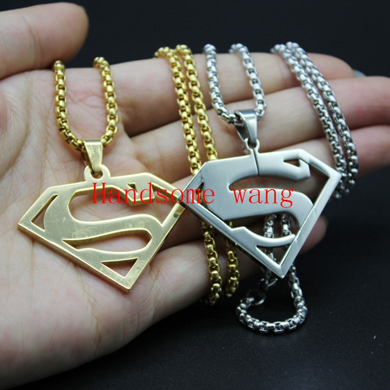 Casual/Sprty 316L Stainless Steel Silver Gold Super S Cool Men's Pedant Nacklace Chain Free Box Aderdeen Chain Free Shipping(China (Mainland))