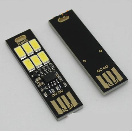 Free shipping Yaratc Cep Kart Lambas Ampul 6 Led Anahtarlk Mini LED Gece Ik Tanabilir USB USB Ik Yeni Promosyon(China (Mainland))