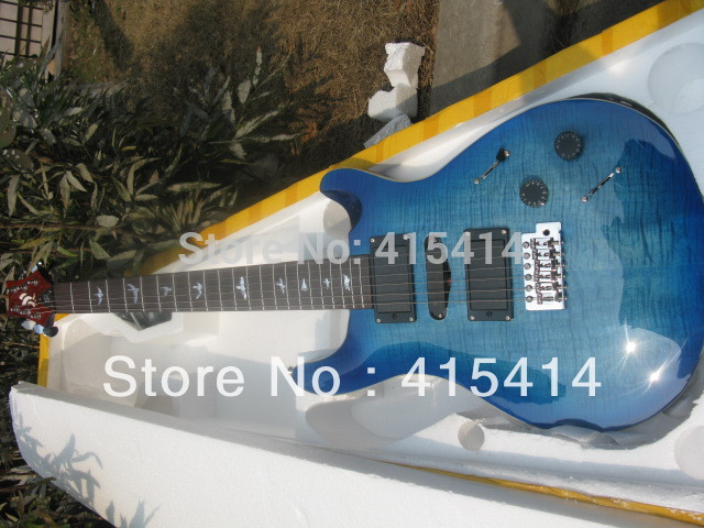 2015 drop shipping Top quality Two pieces of pick-up 6 with string prs electric guitar(China (Mainland))