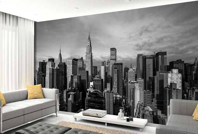 wallpaper new york city wall murals for the living room bedroom. Black Bedroom Furniture Sets. Home Design Ideas