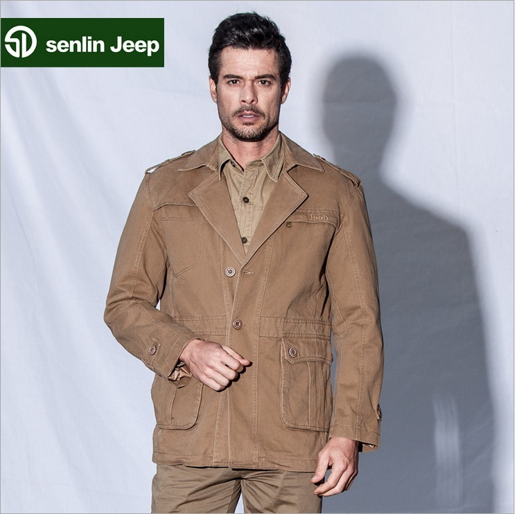 senlin jeep 2015 the brand new cotton casual jacket coat menswear(China (Mainland))
