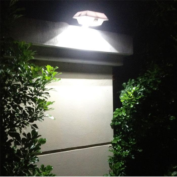 3W Super Bright Solar Light Outdoor Square PIR Sensor