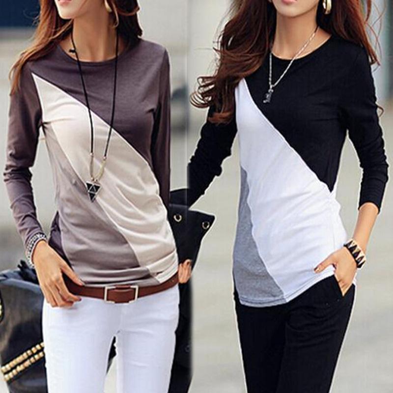 Blusas Femininas 2015 осень мода хлопок блузка рубашки женские блузки свободного покроя о длинным рукавом хлопок топы Большой размер S-XXL