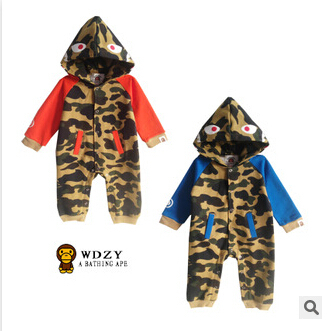 spring 2015 new bape shark baby romper suit ha children climb clothes - best buy- store