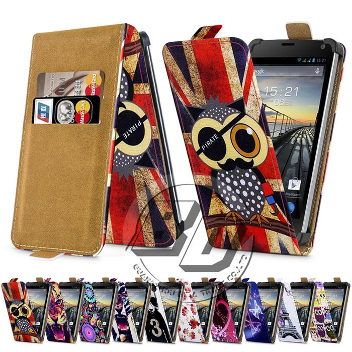 Fly IQ4415 Quad Era Style 3 Case Universal 4.5 Inch Phone Flip PU Leather Printed Cases Cover With Card Slots for fly iq 4415(China (Mainland))