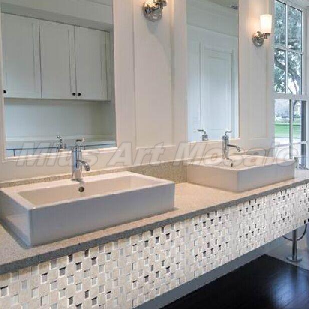 Гаджет  [Mius Art Mosaic] Beveling Edge silver mirror Glass Mosaic Tile mixed ceramic mosaic for Kitchen Backsplash A4KL488 None Строительство и Недвижимость