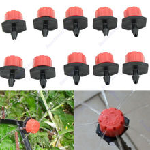 50pcs Garden Irrigation Misting Micro Flow Dripper Drip Head 1/4'' Hose(China (Mainland))