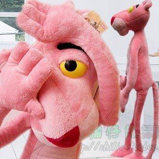 Candice guo! Hot sale super cute plush toy Nici pink panther stuffed toy birthday gift 90cm 1 PC(China (Mainland))