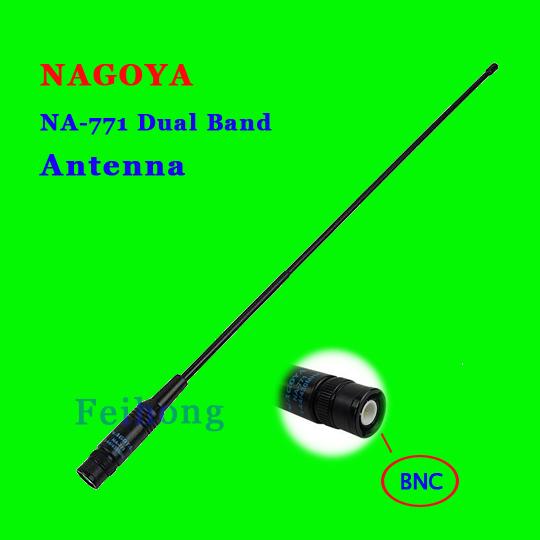 Nagoya Na-771 Bnc Connector Dual Band High Gain Antenna For Two Way Radio Tk100 Tk200 Tk308 Ic-v8 Ic-v80 Ic-v82 Ic-v85 Icom(China (Mainland))