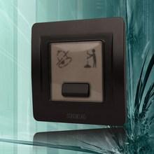 Переключатель стены прерыватель De Luz Songmiao не беспокоить в дверь электропитание гнездо панель тип 86 C3 / черный
