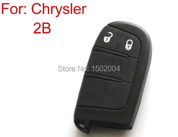 Blank Shell for Chrysler for Dodge for Jeep Smart Card 2 Button Remote Key Shell For Chrysler(China (Mainland))