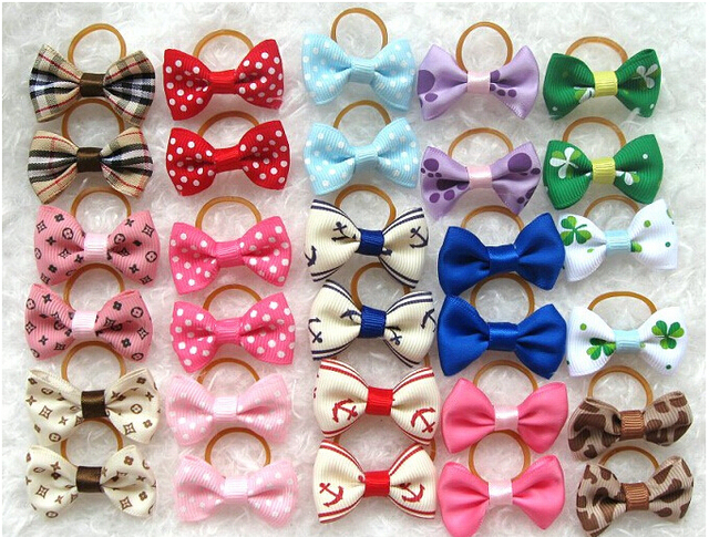 Free shipping 2015 new  one piece fashion bow tie pet accessories for dogs neck 4CM Long-GS030