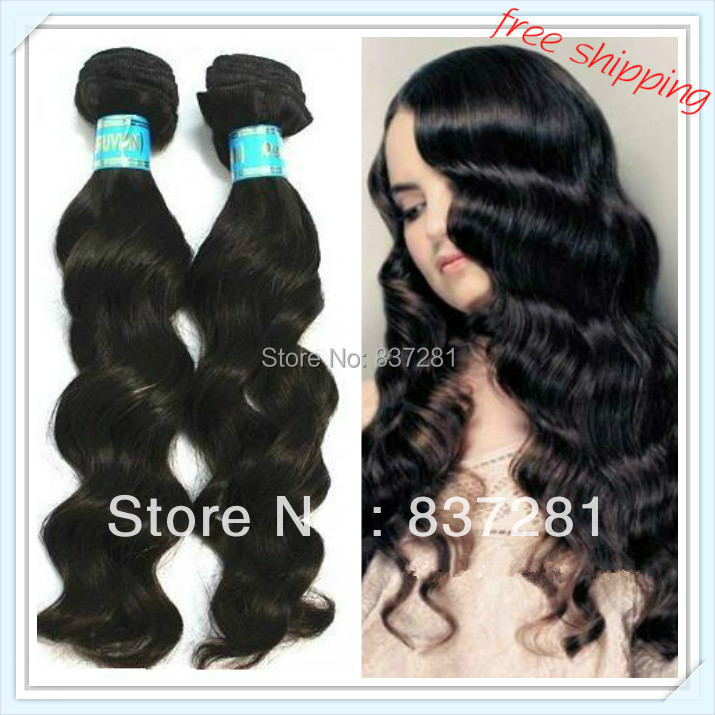 virgin peruvian hair weaving 100% human queen beauty weft natural color quality good price - Flower factory store
