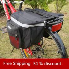 WEST BIKING Cycling Bicycle Waterproof Saddle Bag Duffle Bicycle Bag Rear Bike Pannier Bicycle Bags Cycling Bicycle Bag(China (Mainland))