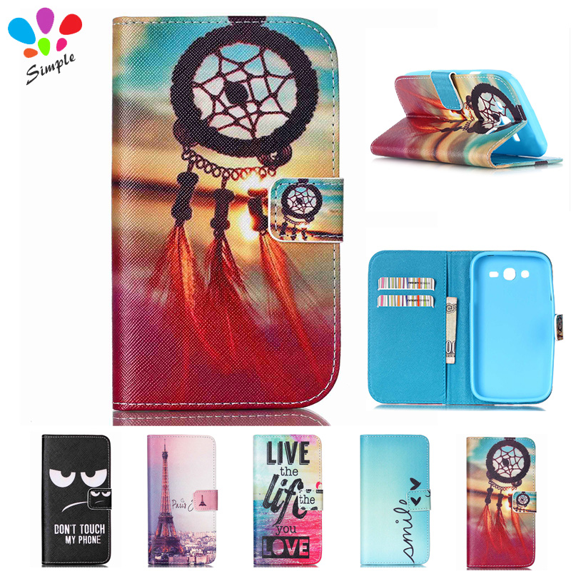 Luxury Cartoon Wallet  PU Leather Case Cover For Samsung Galaxy Grand DUOS i9082 i9080 Neo Plus i9060 i9062 Case Flip Back Cover