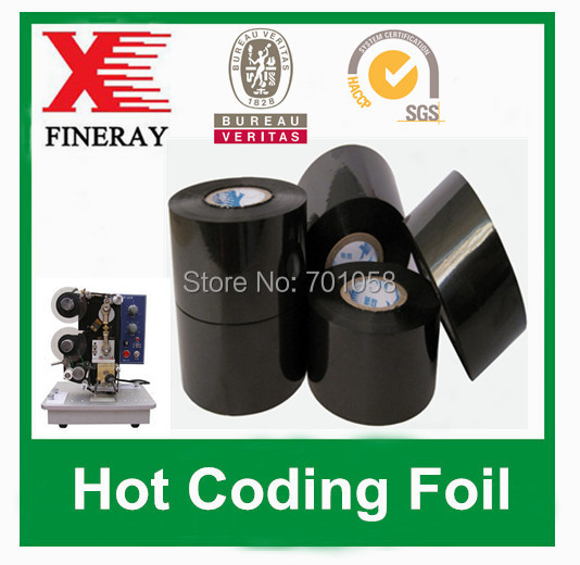 FC3 type 25mm*150m hot coding foil for plastic on hot stamp coding machine from China supplier(China (Mainland))