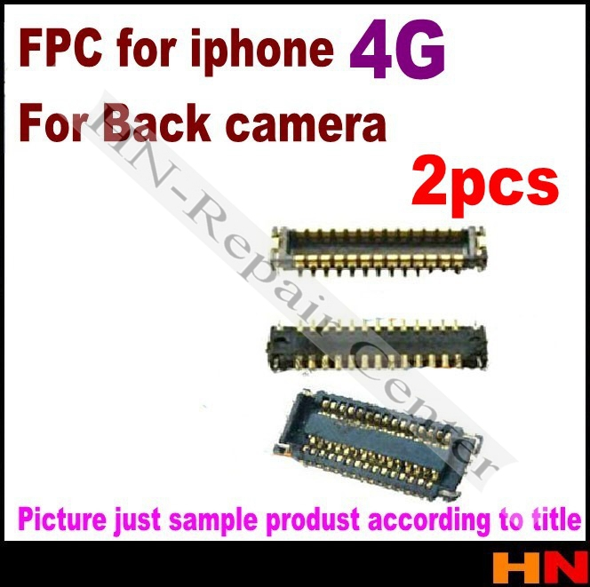 2pcs inner rear camera back FPC connector flex on logic board, contactor mainboard for iphone 4 4g gen Mobile Phone Flex Cables(China (Mainland))