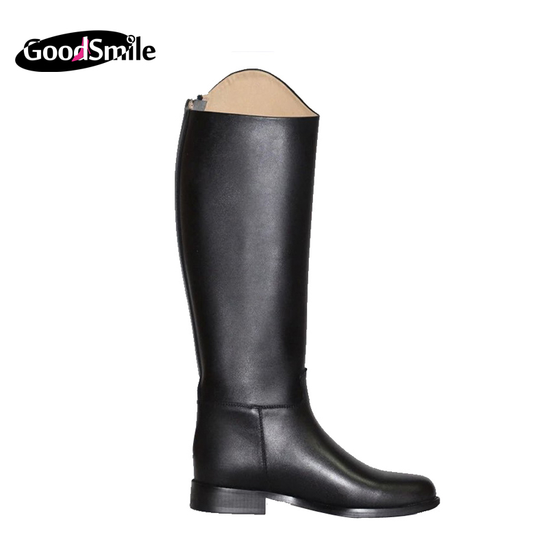 2015 autumn winter new fashion warm women boots leather warm plush female knee high boots square heel women shoes