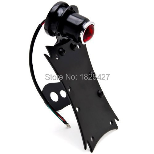 Фотография Motorcycle Mount Tail Light Brake License Plate Bracket Taillight For Harley Cruiser Bobber Chopper Street Standard Dirt Bike