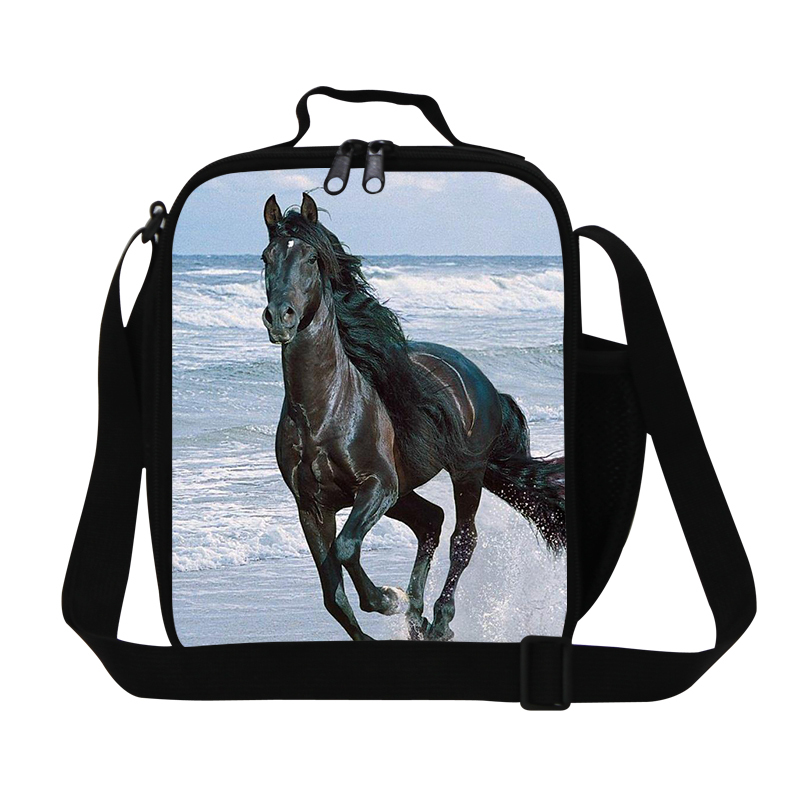 Ferghana horse stylish lunch bags for boys school,kids thermal food bags,insulated meal bag,cool sling picnic bag for men work,(China (Mainland))