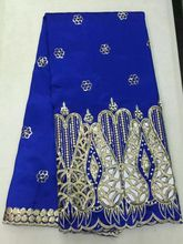 Buy 5Y/pc Fashionable royal blue george lace fabric sequins beads decoration african cotton lace party dress OG55-2 for $56.28 in AliExpress store