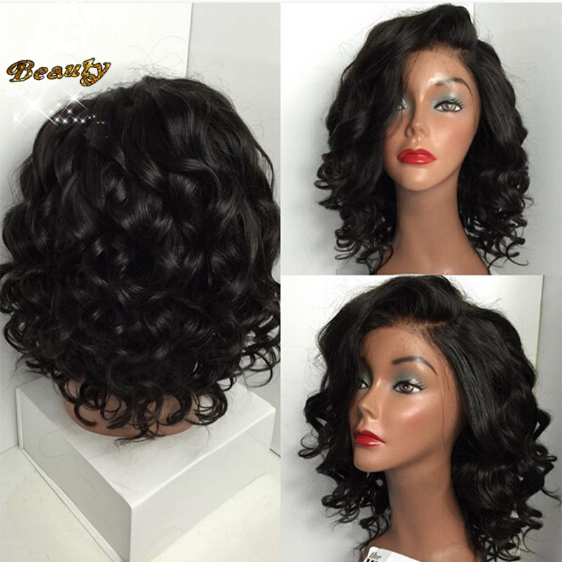7A Best Short Human Hair Wigs 100% Brazilian Virgin Hair Full Lace Wig Glueless Lace Front Human Hair Bob Wigs For Black Women<br><br>Aliexpress