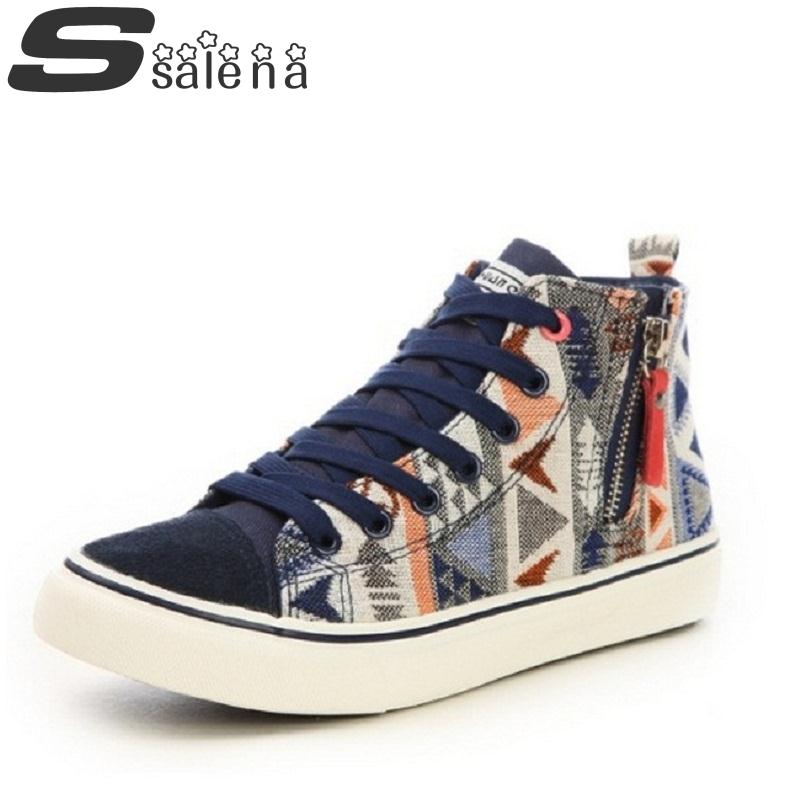 High Top Wmen Casual Shoes Ladies Ladies Single Shoes Fashion Spell Colors Outdoor Leisure Shoes Hot Selling #B1789
