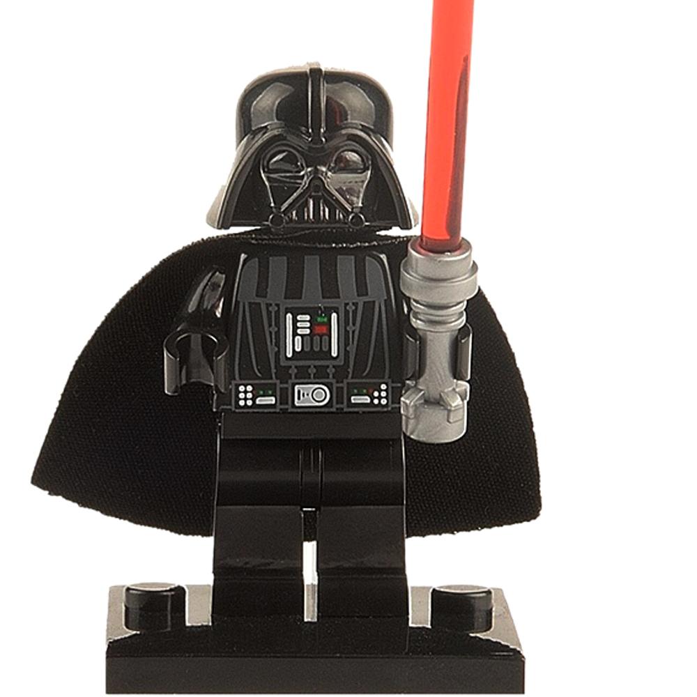 одной Звездные войны minifigures Дарта Вейдера kylo ren boba fett клон trooper строительные блоки кирпича игрушки совместимы с lego