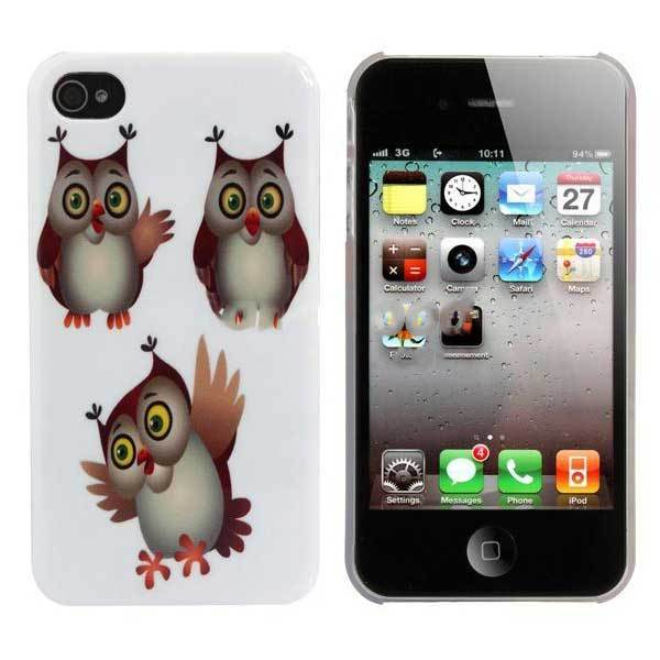 Dothan Cute Cartoon OWL Plastic Hard Back Case Skin Cover For iPhone 4 4s(China (Mainland))