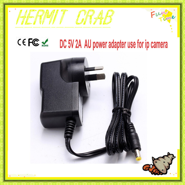 High quality Certificate AU Power adapter DC 5V 2A Converter Adapter Suitable for all IP camera and CCTV camera(China (Mainland))