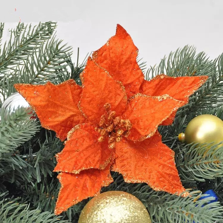 Hot new christmas tree decorations 10pcs lot flower new New flower decoration