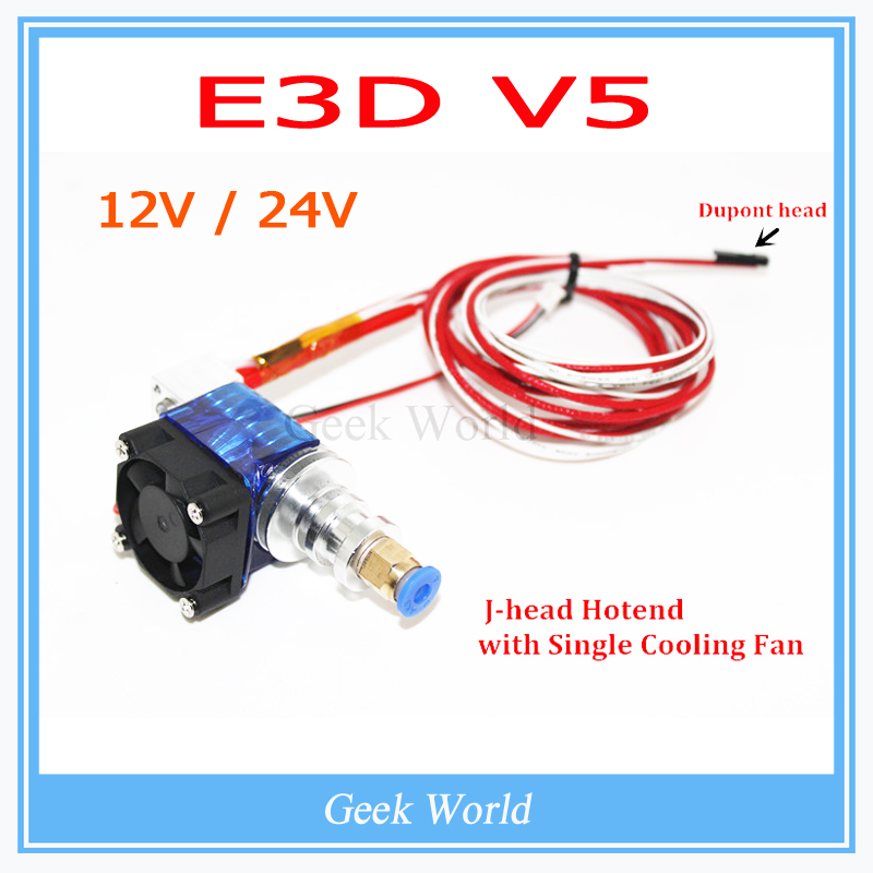 Гаджет  3D Printer J-head Hotend E3D V5 with Single Cooling Fan for 1.75mm/3.0mm Direct Filament Wade Extruder 0.2mm/0.3mm/0.4mm Nozzle None Электронные компоненты и материалы