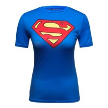 Buy Compression Shirt superman Flash 3D Printed T Shirt Women Ladies Raglan Short Sleeve Cosplay Costume Fitness Tops Female Clothes for $6.79 in AliExpress store