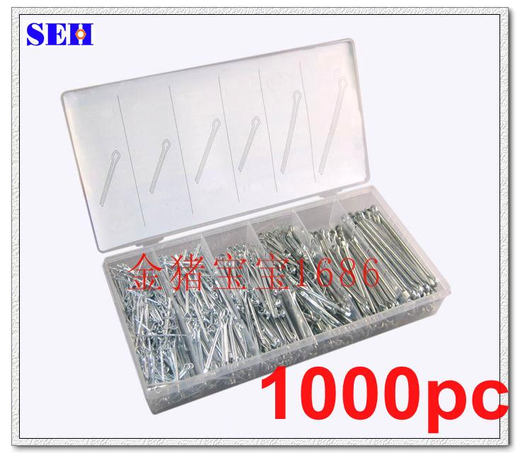 1000pcs U type Cotter Split Pin Kit Assortment box Cotter Pin Hardware tools
