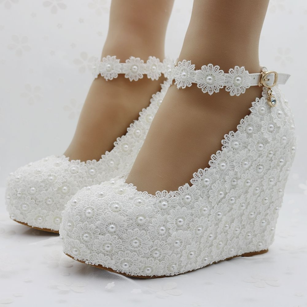 Popular White Wedges Wedding-Buy Cheap White Wedges ...