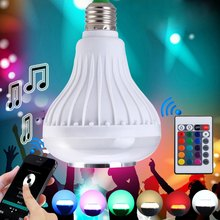 2016 New Arrival Smart Illumination Intelligent E27 Light Bulb Colorful LED Lamp Bluetooth 3.0 Speaker for Home Stage Light Bulb(China (Mainland))