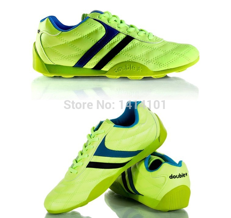Double star broken nails soccer shoes for soccer training & leisure with convenient Men's and women's Soccer Boots ankle(China (Mainland))