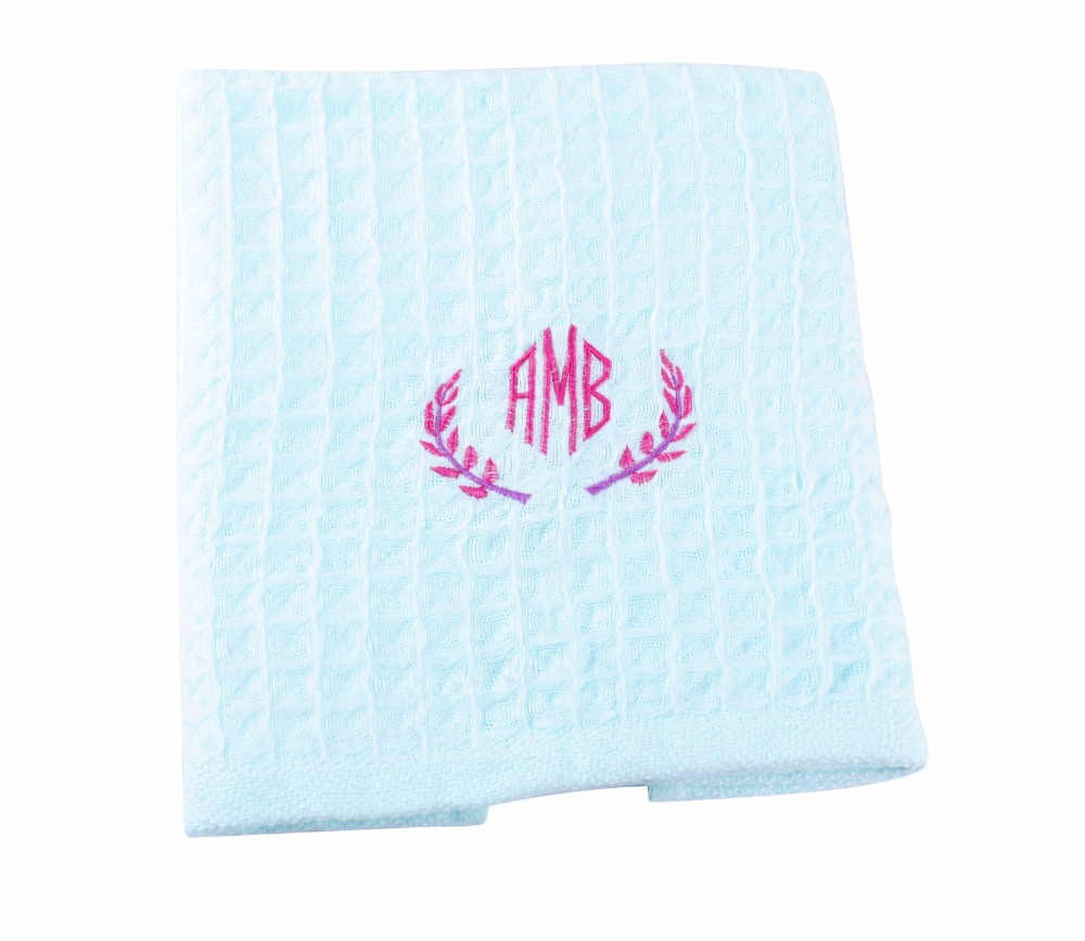 New 2016 kitchen Towel Personalized Monogrammed Embroidered Dish Kitchen Towel Custom Kitchen Washing Cleaning Wiping Rag AE0440(China (Mainland))