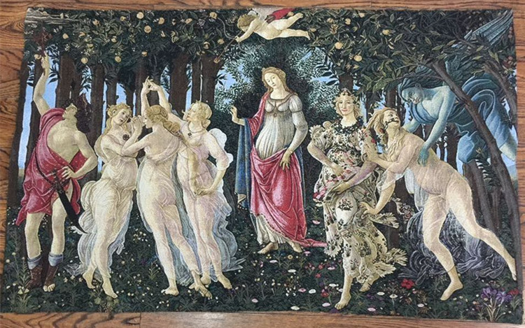 "Belgium tapestry ,""In the spring"",European tapestries,Renaissance painting fabric,88X140CM, GT-C0021(China (Mainland))"