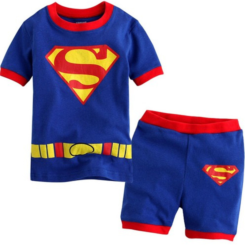 2016 Boys Clothes Superman Set Summer Kids Next Sport Suit Children Clothing Toddler Baby Boy Tracksuit 2pcs Vetement Fille(China (Mainland))