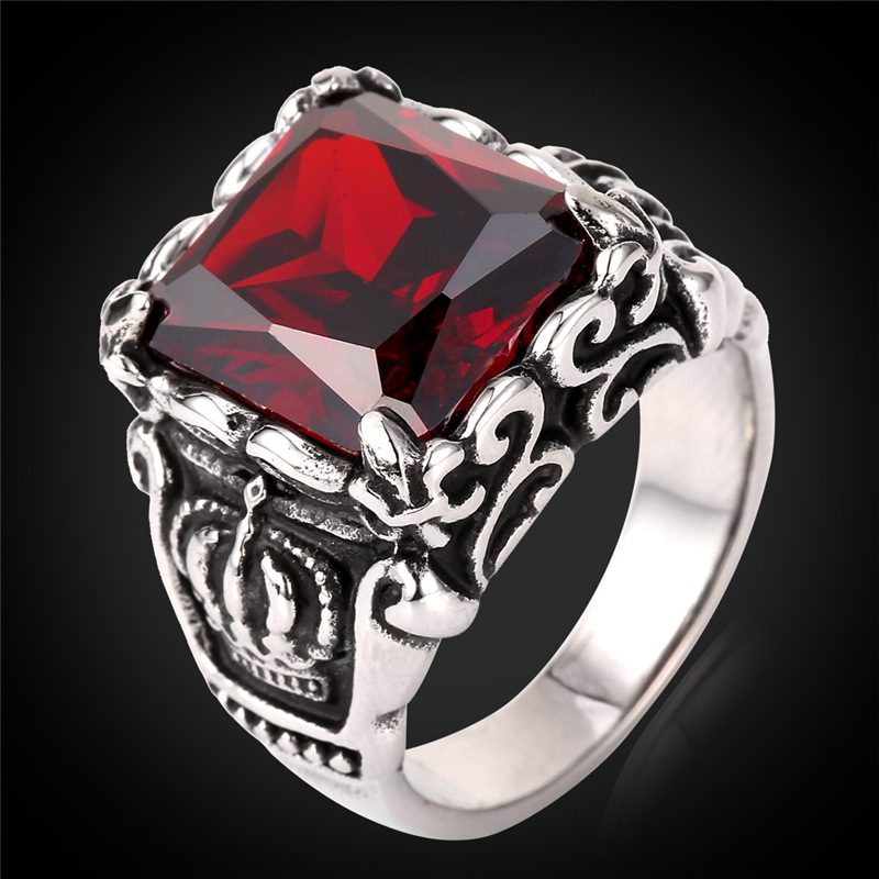 Vintage ring men ruby jewelry gift box trendy 2015 Trendy womens gifts 2015