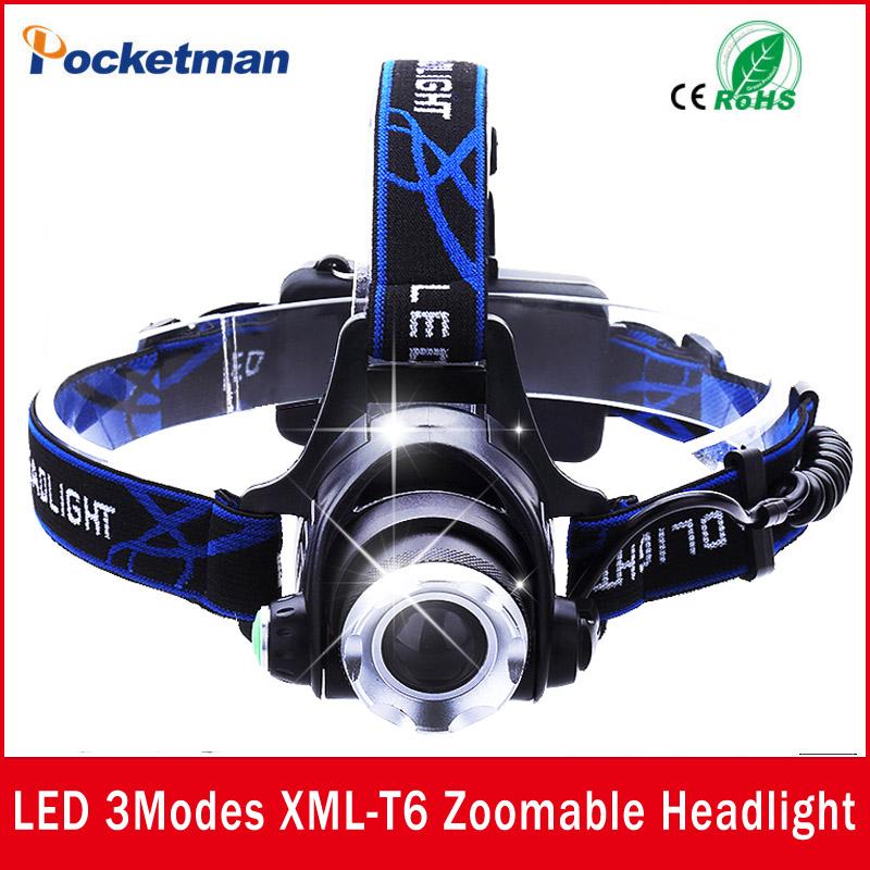 USA EU Hot HP79 Head light Head lamp Cree XM-L T6 led 3000LM rechargeable Headlamps Headlights lamp lights(China (Mainland))