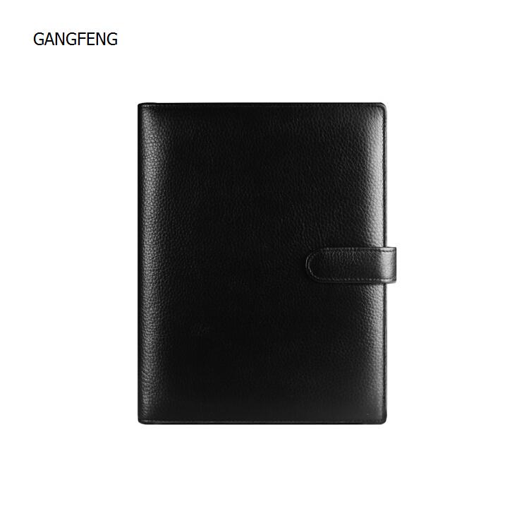 School Supplies Logo DIY Custom Mini A6 A7 Notebook Luxury Genuine Leather Agenda Planner Sketchbook Organizer Gift(China (Mainland))