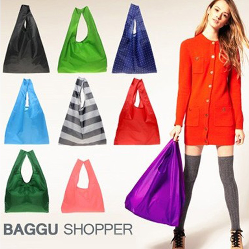 BAGGU Shopping Bags Foldable Shopping Tote Reusable Eco Friendly Grocery Hadle Bag Carrier Free Shipping 500pcs(China (Mainland))