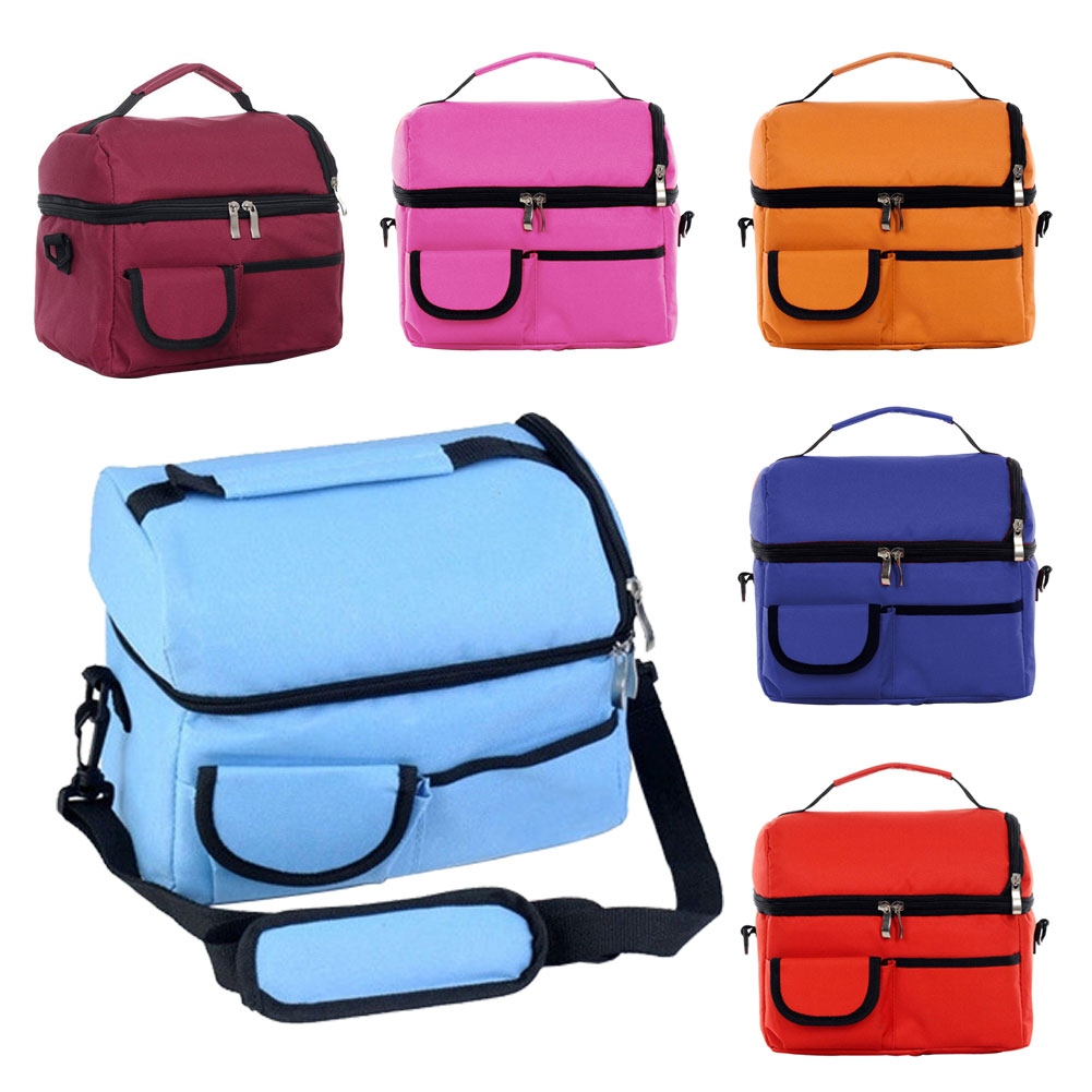 Double-deck Mommy Bag Baby Diaper Nappy Carrier Handbags Picnic Cooler Ice Pack Lunch Storage Tote Satchel(China (Mainland))