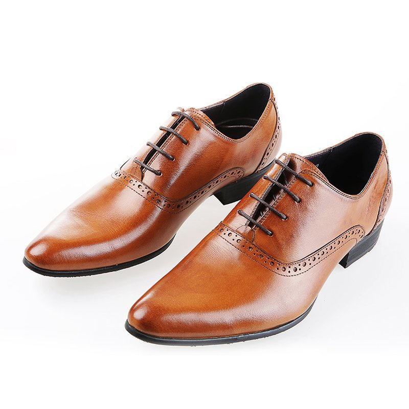 2015 New Fashion 100% Genuine Leather Formal Brand Brogues Man Oxfords Classic Pointed Toe Mens Lace up Flats Shoes GLM925<br><br>Aliexpress